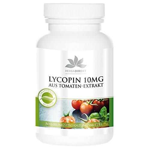 Lycopin Kapseln 10mg - hochdosiert - aus Tomaten-Extrakt - vegan - 60 Kapseln - Hergestellt in Deutschland