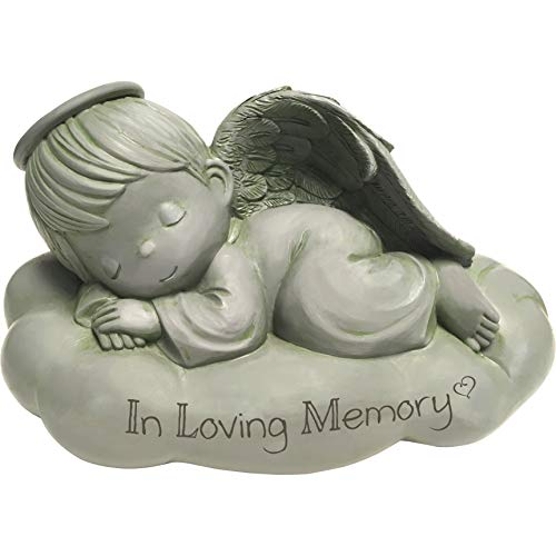 Precious Moments Sleeping Angel in Loving Memorial Resin Garden 183441 STONE, One Size, Multi