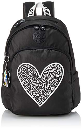 Kipling Delia Women's Backpack, womens, Daypack, KI341377U, Kh Chalk Art (Black), M
