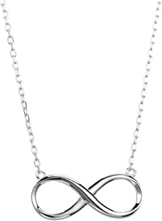 Tiny Heart Star Moon Cross Infinity Love Pendant Necklace for Women Girls Kids 925 Sterling Silver 14K Gold Plated Simple ...