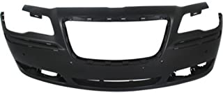 Front Bumper Cover Compatible with 2011-2014 Chrysler 300 Primed with ACC and Parking Aid Sensor Holes