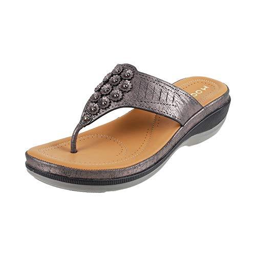 Mochi Women's Black Fashion Slippers - 4 UK/37 EU (32-436)