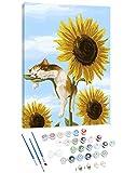 Besrina Malen nach Zahlen Set, DIY Öl Leinwand Gemäldeset mit Pinseln und Acrylfarbe für Erwachsene Kinder Anfänger Home Dekorationen Geschenk - Ohne Rahmen 40 x 50 cm