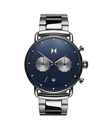 MVMT Herren Analoger Quarz Uhr mit Edelstahl Armband D-BT01-BLUS