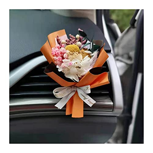 BUYOUTIA Lindo Sombrero de Paja Pato Auto Interior Deco Accesori Yeso Perfume Air Ambientador Aire Acondicionado Aire Acondicionado Aire Outlet Fragancia Clip (Color Name : Gold)