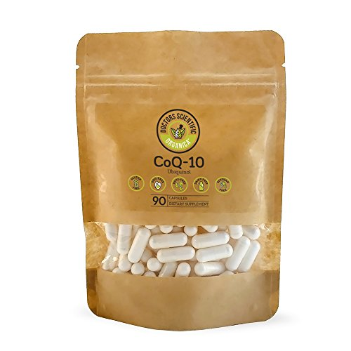DSO Coq10 100mg Doctor-Designed Formula Maximum Effectiveness Coenzyme Coq10 - High Absorption Cholesterol Support - 90 Capsules Biodegradable Bag