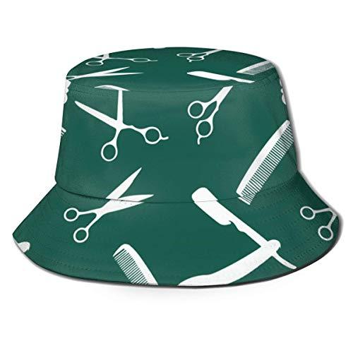 Sonnenhut,Damen Strandhut,Bucket Hat,Breite Krempe Kappe,Fischerhüte Eimer Hut,Barber Shop Herren Damen Fischerhüte Boonie Hut Outdoor Jagdhut