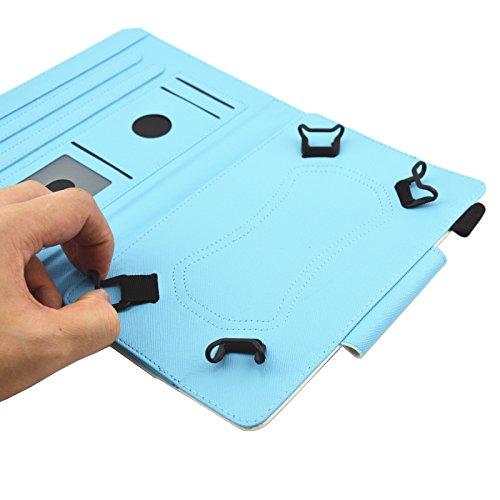 Junhamor Schutzhülle für Tablets BEISTA 10.1, Polaroid 10.1, Klipad 10.1, Teclast 10.1, LNMBBS W116 10.1 Tablet (Rainbow Unicorn)