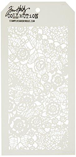 Art Gone Wild Plastik Tim Holtz Spitzendecke Schablone, Synthetic Material, durchsichtig, 28.6 x 11.4 x 0.1 cm