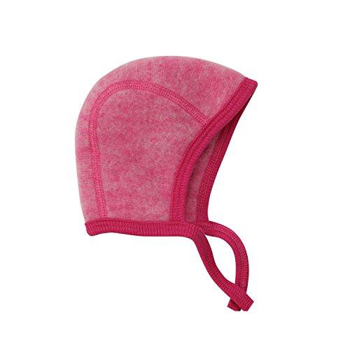 Cosilana Baby Häubchen / Mütze, Größe 62/68, Farbe Pep-Pink, Wollfleece 100% Schurwolle kbT
