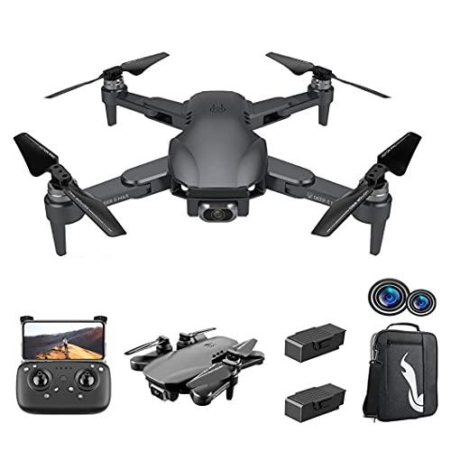 GZTYLQQ Drone GPS Pieghevole con Fotocamera 6K, quadricottero con Motore brushless, Ritorno Automatico, Volo a seguire, Tempo di Volo Lungo!Versione a Due batterie con Zaino