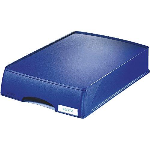 Leitz Cassettiera componibile per vaschette portacorrispondenza, Formato A4, Blu, Gamma Plus, 52100035
