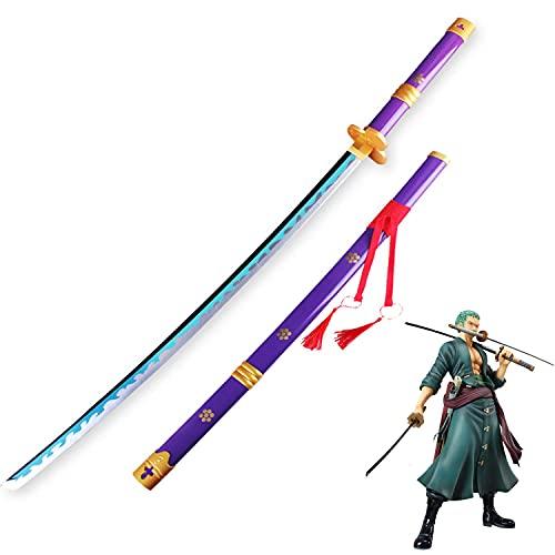 One Piece Roronoa Zoro COS Espada de madera Trafalgar Law Monkey D. Luffy Blade Armas Modelo de apoyo Amantes del anime Katanas Props Decorativos ABS Juguetes(100cm / 39 pulgadas)
