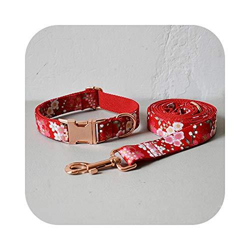 Collar grande para perro con correa para perro pequeños, collar de perro y correa para perros pequeños, Bulldog Frances Dog Collar Leash Set-M