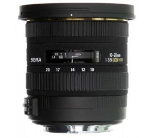 Sigma 10-20mm F3.5 EX DC HSM SLR Wide lens Black - camera lenses (SLR, 13/10, Wide lens, 0.24 m, 102.4°, Nikon)