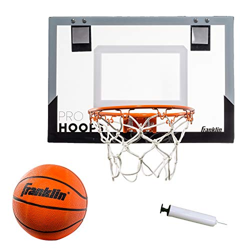 Franklin Sports Over The Door Mini Basketball Hoop - Slam Dunk Approved - Shatter Resistant - Accessories Included, Standard - 17.75' x 12'