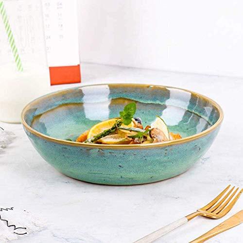 KSTORE Ensalada de Cuencos de cerámica Grandes ensaladas Plato de Sopa de la Porcelana Cuencos Creativa Cocina, vajilla...