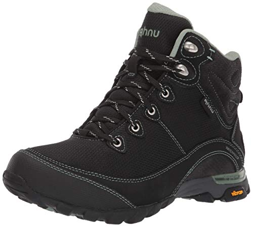 Ahnu Women's W Sugarpine II Waterproof Ripstop Hiking Boot, Black/Green Bay, 8 Medium US