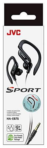 JVC HA-EB75-AN-U. Auriculares Deportivos con Clip Regulable. Ajuste Seguro 5 Posiciones. Resistente...