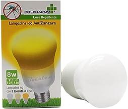 Colpharma Anti Mosquito Led Bulb E27 8W - Deze lamp levert 3 verschillende lichtkleuren, bescherming voor binnen en buiten...