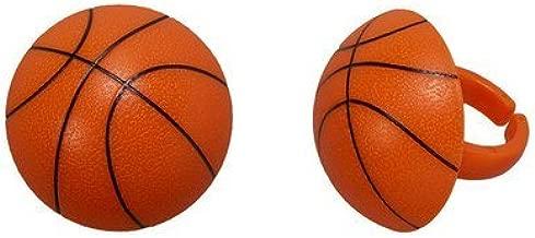 3D Basketball Cupcake Rings - 24 pc