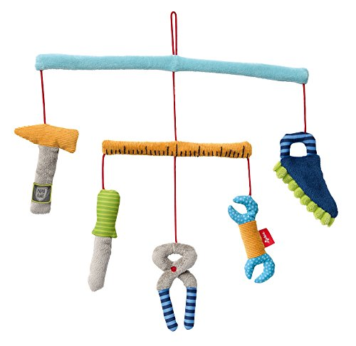 SIGIKID Mädchen und Jungen, Mobile Werkzeug Papa&Me, Babyspielzeug, empfohlen ab 0 Monaten, mehrfarbig, 41762