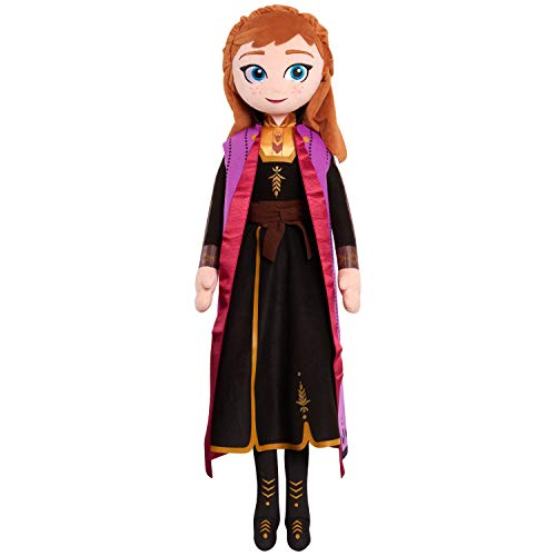 Disney Frozen 2 34-Inch Jumbo Singing Light Up Plush Anna, Musical Plush Toys for Kids, by Just Play