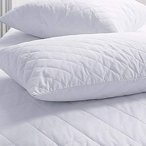 Roy Textile All-Season Poly-Cotton Quilted Pillow Protectors - Pack of 4