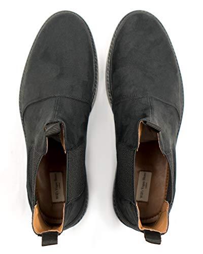Will's Vegan Shoes Mujeres Continental Chelsea Botas Negro Vegan Suede, color, talla 38 EU