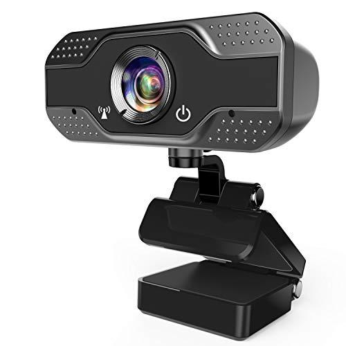 ANWIKE Webcam HD 1080P con Microfono, Webcam per Computer in Streaming con Messa a Fuoco Fixed per Laptop Desktop Mac TV USB, Cam per PC USB per videochiamate conferenze
