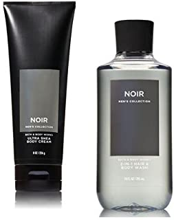 Bath and Body Works Men's Collection Ultra Shea Body Cream & 2 in 1 Hair and Body Wash NOIR.