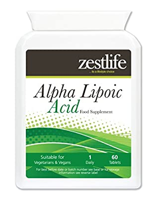 Zestlife Alpha Lipoic Acid 200mg * On Special Offer* 2 x 60 Tablets This powerful antioxidant promotes normal cellular energy, defends cells against oxidative damage casued by free radicals.