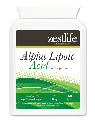 Zestlife Alpha Lipoic Acid 200mg 60 Tablets This Powerful antioxidant Promotes Normal Cellular Energy, Defends Cells Against oxidative Damage Caused by Free radicals.