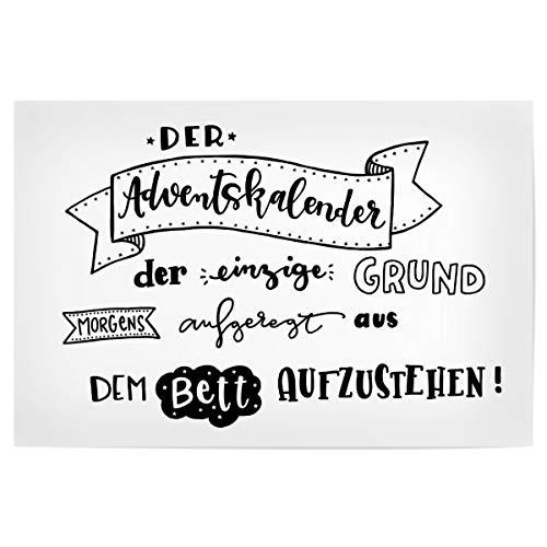 artboxONE Poster 45x30 cm Typografie Der Adventskalender - Bild Weihnachten Handlettering Typografie