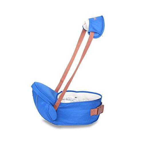SONARIN Premium Hipseat Baby Carrier Babytrage, Sicher und Komfortabel, Freie Größe, Vorderer Träger Gürtel, 4 tragende Positionen,100% GARANTIE und FREIE LIEFERUNG, Ideales Geschenk(Blau)
