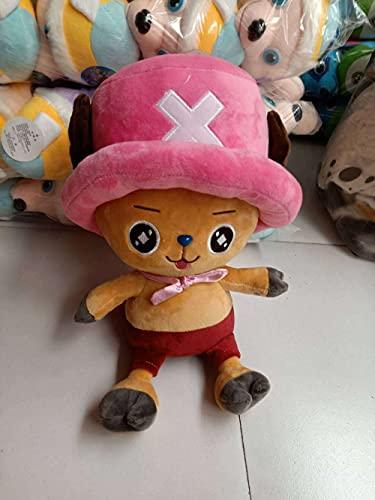 Cartoon Plush One Piece-Chopper-35cm, Regalos de cumpleaños para niños y niñas-Compañeros de juegos para niños-Decoraciones para el hogar-Regalos para fanáticos del anime