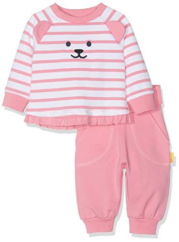 Steiff Baby-Mädchen Set Pants + Sweatshirt Bekleidungsset, Rosa (Morning Glory 7013), 86