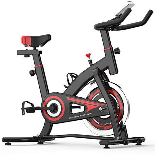 TIM-LI Bicicleta Estática, Bicicleta Giratoria para Ciclismo En Interiores con Pantalla LCD/Soporte para Teléfono Móvil, Manubrio Y Asiento Ajustables - 330 Libras Asequibilidad