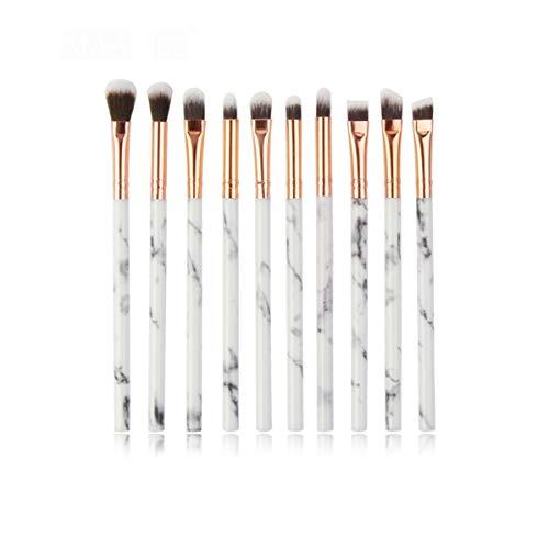 WSUH Maquillage Pinceaux professionnelle poudre fard à paupières Eyeliner Sourcil Blend Correcteur Shading Make Up Brush Tool Kit (Couleur : 10Pcs Whitegray, Size : One Size)
