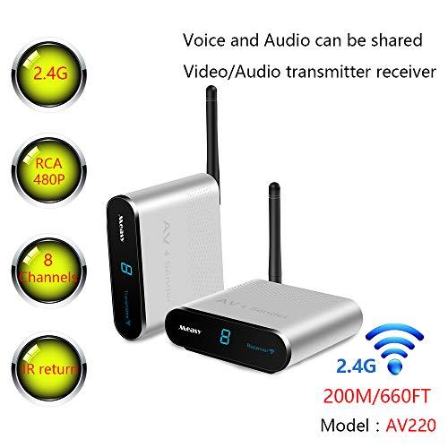 Measy AV220 - Transmisor y Receptor de Audio de vídeo inalámbrico AV de 2,4 GHz hasta...