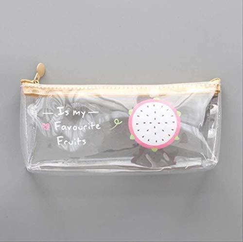 N\A Caso Transparente cosmética lápiz Fruta Fresca Bolsa de papelería, Suministros de Oficina Se Utiliza for la Escuela (Color : B)