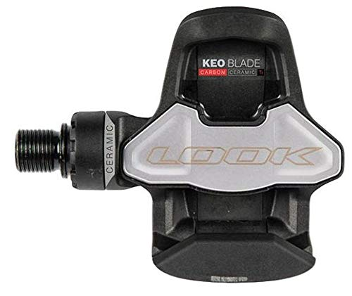 Look Nero Pedale keo Blade Carbon Titanio Cuscinetti in Ceramica Unisex Adulto, Standard