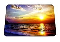 22cmx18cm マウスパッド (海の夕日の風景) パターンカスタムの マウスパッド