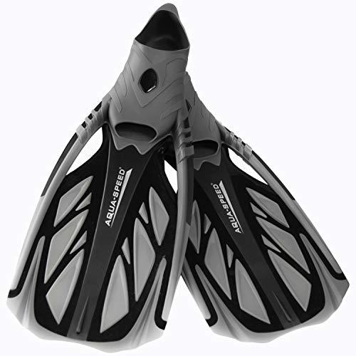 Aqua Speed INOX Unisex Flossen für bequemes Schnorcheln Tauchen Schwimmen | Taucherflossen | Schwimmflossen | Schnorchelflossen, grau/schwarz, 36/37