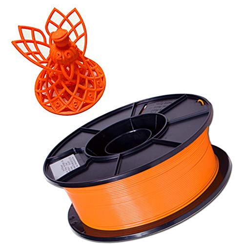 SHENLIJUAN. Stampante 3D 1.75mm Filamento PLA 3D Printing PLA Filamento 1KG Spool for stampanti 3D Penne 3D (Fluo Red Blue Orange) (Color : Arancia, Size : Gratuito)