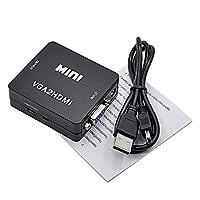 HDMIからVGAへのビデオコンバーターHdHDMIからVGAへのコンバーターHDMIからVGAへのコンバーターブラック