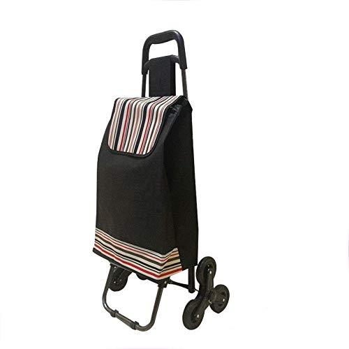XINAO Carrito de la compra Escaleras ancianos carrito Rueda Mujer cesta de la compra Bolsas de la compra del hogar Trolley Trailer portátil plegable sin silla