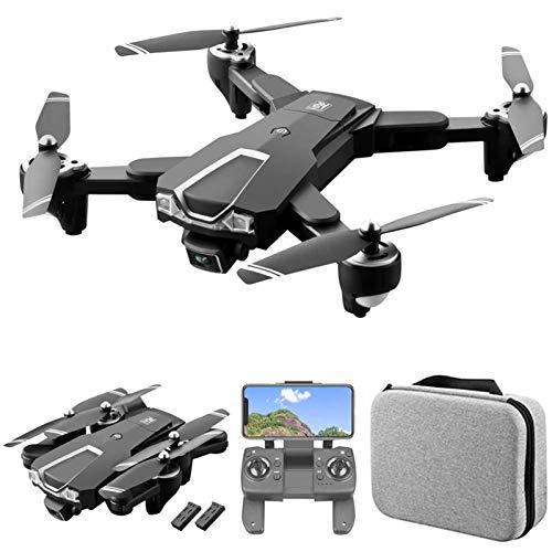 J-Love Drone GPS con Doppia Fotocamera, Drone FPV WiFi 5G con Fotocamera Frontale 6K HD e Fotocamera Inferiore 1080P, quadricottero RC con Posizionamento del Flusso Ottico, seguimi, Custodia e