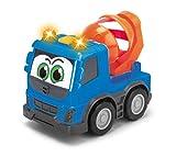 Dickie Toys 203811006Happy Volvo FMX, autocarro con cassone per i più Piccoli,, Cemento Mixer, Container Truck, 3Tenendo. Modelli, 13cm
