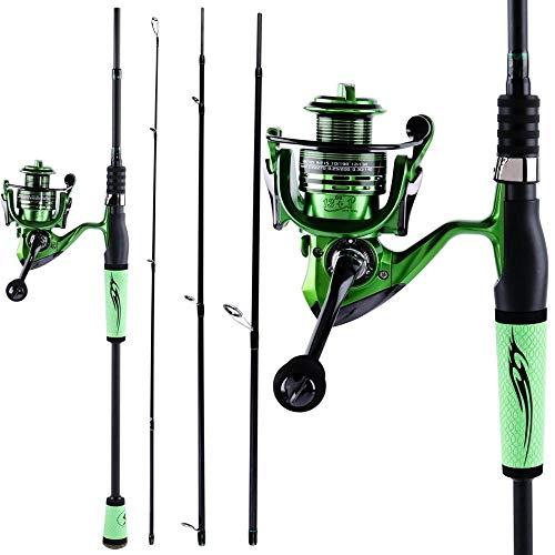 LJXLXY Fishing Rod Holder Fishing Rod and Fishing Reel Carbon Fiber Fishing Pole Spinning Reel for Bass Fishing Tackle Fishing Rod and Reel Combo (Bundles : 2.4M and 4000)